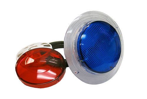 """O'Ryan 25000MB 3-1/2"""" Wall Fitting w/ Lenses Red & Blue"""