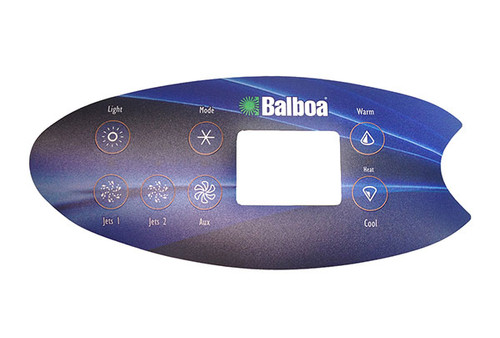 Balboa 11894 7-Button VL702S Topside Panel Overlay