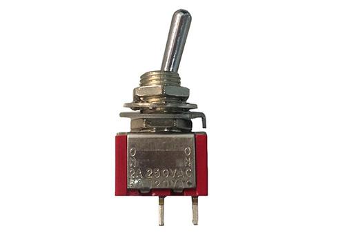 TOGGLE SWITCH | 6AMP - 125V - MINI - 2-PRONG | 5-40-0012