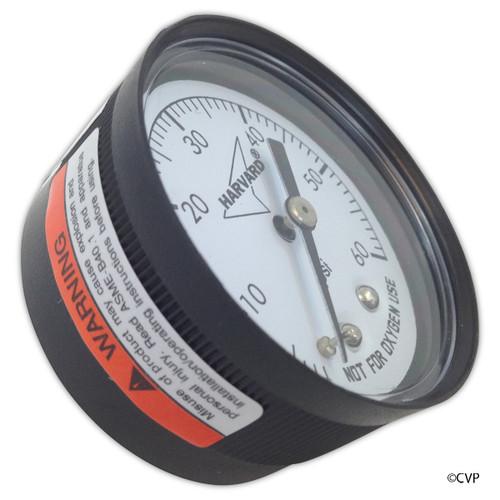 """Generic   Pressure Gauge 1/4""""Mpt, 0-60psi, Back Mount   IPPG602-4B"""