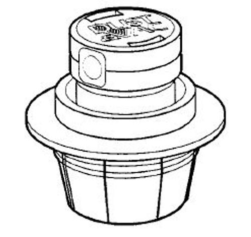 CARETAKER | POP UP DUST & VAC FLOW ADJUST HEAD ONLY, CREAM | 3-9-391