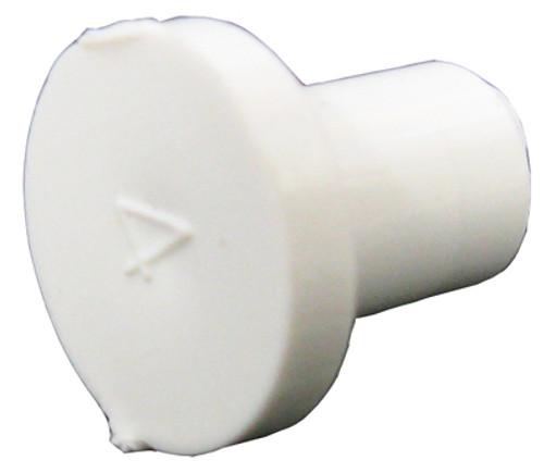 "CUSTOM MOLDED PLASTICS | 3/8"" SPIGOT PLUG (GLUES INSIDE 3/8"" BARB) | 9403-10B"