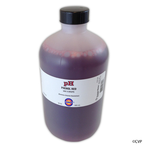 100 Bottles  PENTAIR | RAINBOW TEST KIT SOLUTION PH RED 16 OZ | PHENOL RED | R161126