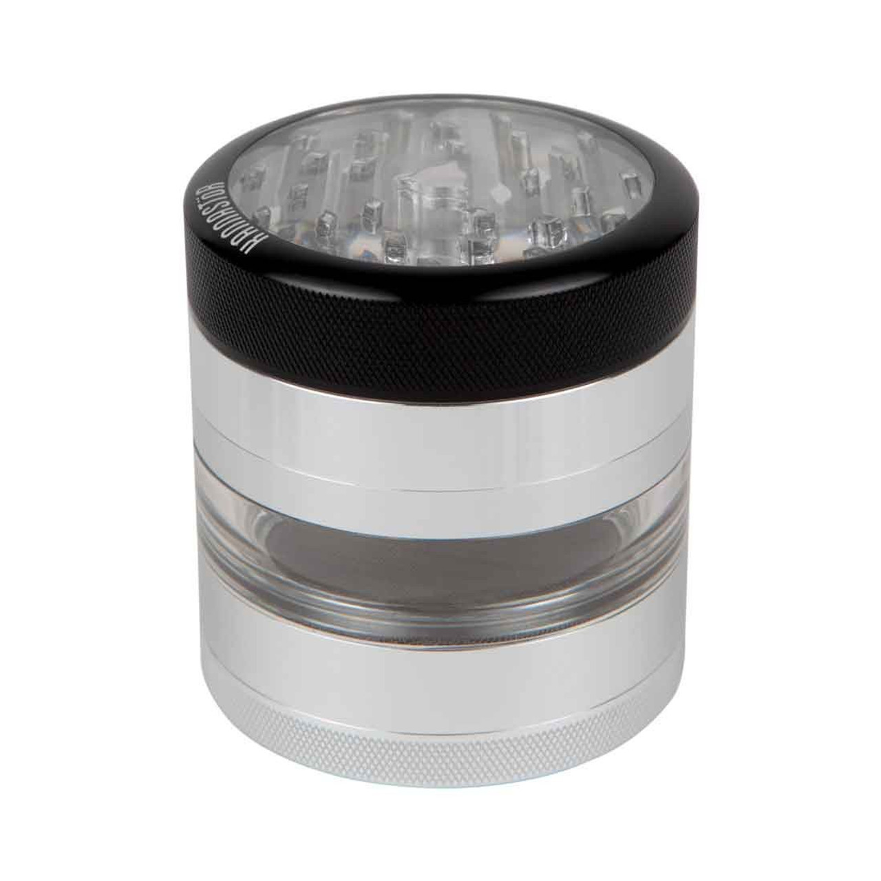 Kannastör 4pc Multi Chamber Grinder w/ Clear Top + Jar