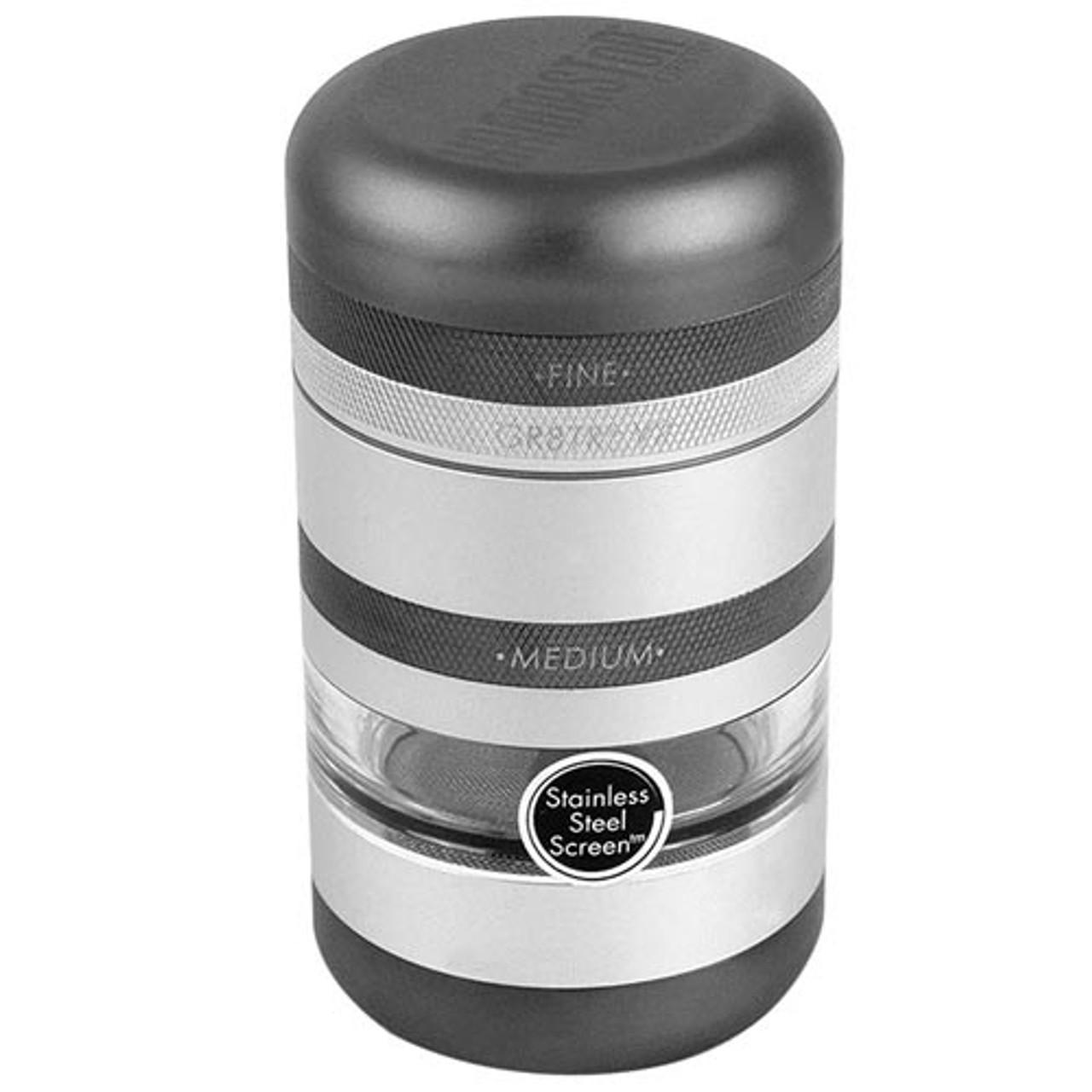 Kannastor GR8TR V2 Series - Grinder w/ Jar body - Matte silver