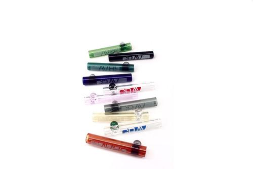 """Grav Labs 3"""" 12mm Glass Taster - Grav Labs Decal 10/pk"""
