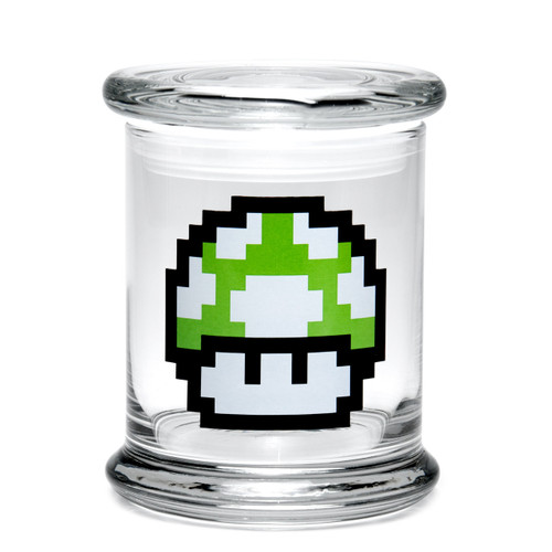 420 Science Large Pop-Top Jar - 1-Up Mushroom