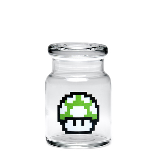 420 Science Small Pop-Top Jar - 1-Up Mushroom