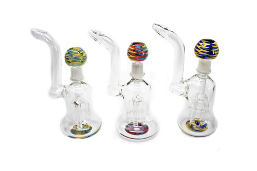 Imported Glass Large 4 Tree Oil Bubbler