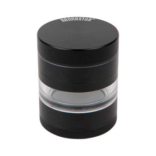 Kannastör 4pc Black Multi Chamber Grinder w/ Jar