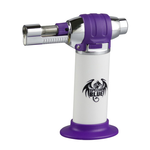 "Special Blue Butane Torch - Purple Haze 5"" - White/Purple"