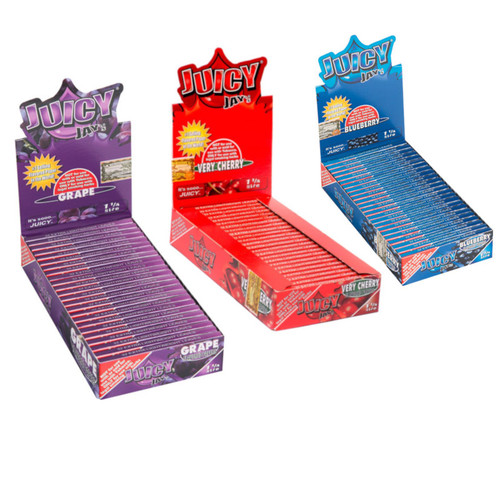 Juicy Jay's Hemp Rolling Papers 1 1/4 - Flavored (Display of 24)