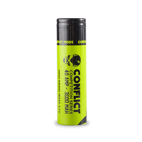 Conflict 18650 Battery 3000mAh Green