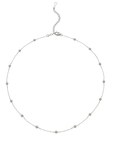 14K 3-3.5mm Akoya Cultured Pearl And Chain Necklace