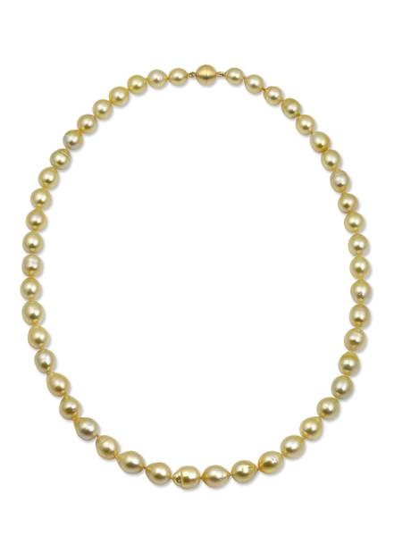 Golden South Sea Drop Pearl Strand