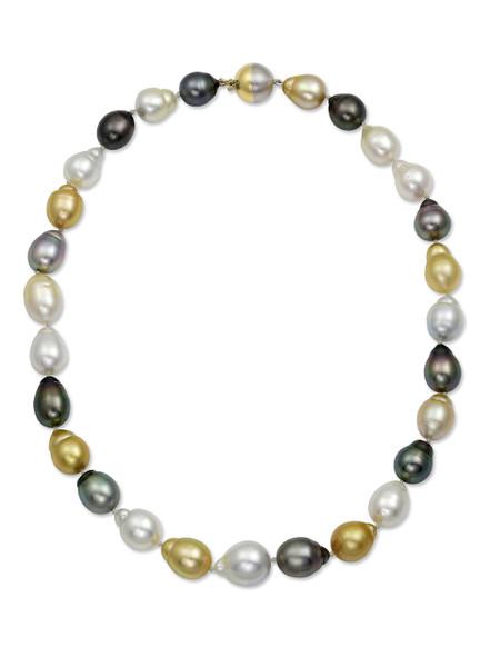 Multicolor South Sea Drop Pearl Necklace