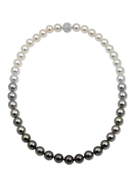 Tahitian and White South Sea Pearl Moonlight Necklace