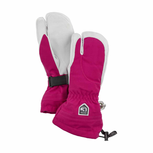 Hestra Women's Heli 3 Finger Glove - Fuchsia/Off White