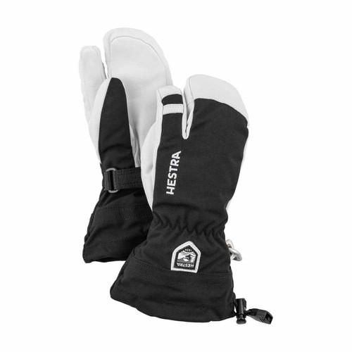 Hestra Army Leather Heli Ski Jr 3 Finger Glove - Black