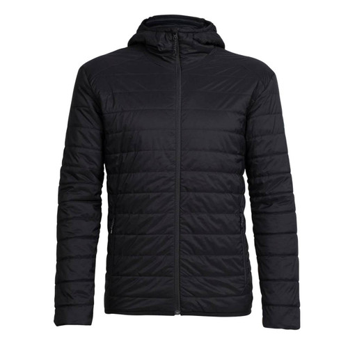 Icebreaker Men's Hyperia Lite Hooded Jacket - Black