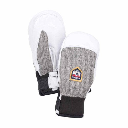 Hestra Army Leather Patrol Junior Mitt - Light Grey