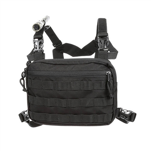 Coaxsher Molle Chest Harness. Flashlight not included.
