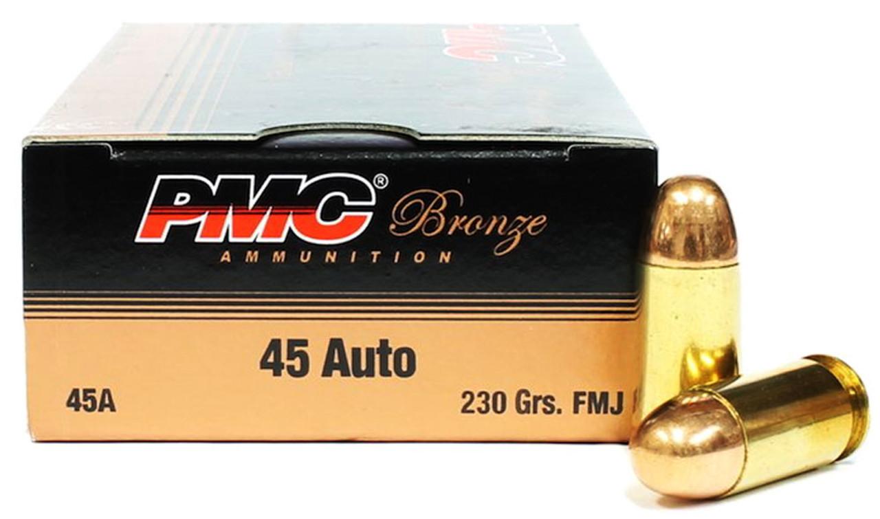 45 acp 230 grain fmj pmc bronze ammunition for sale in stock
