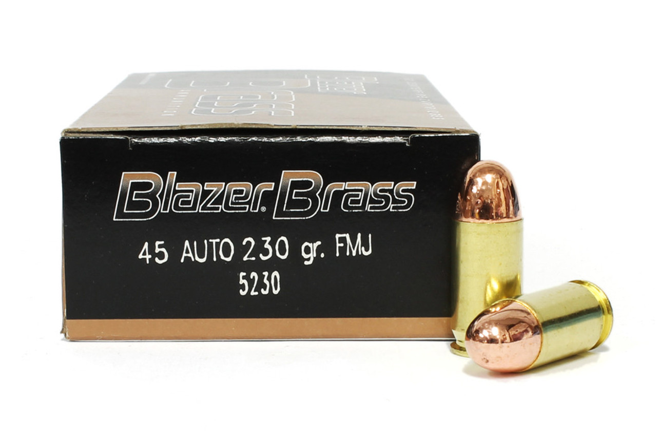45 acp 230 grain fmj cci blazer brass ammunition for sale in stock