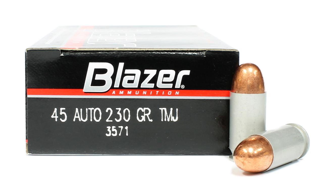 45 acp 230 grain tmj cci blazer ammunition for sale in stock