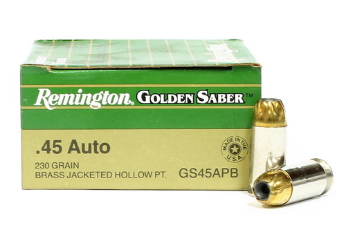 Surplus Ammo   Surplusammo.com 45 ACP 230 Grain JHP Remington Golden Saber Ammunition