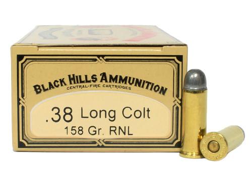 Surplus Ammo | Surplusammo.com 38 Long Colt 158 Grain Round Nose Lead Black Hills Cowboy Action