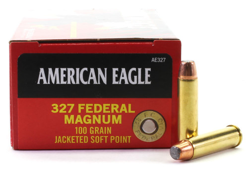 Surplus Ammo | Surplusammo.com 327 Federal Magnum 100 Grain Jacketed Soft Point Federal American Eagle