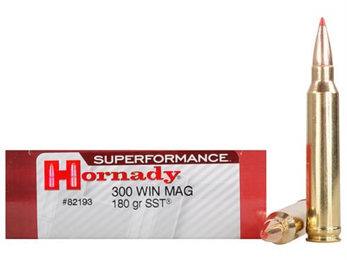 Surplus Ammo .300 Win Magnum 180 Grain SST Hornady SUPERFORMANCE