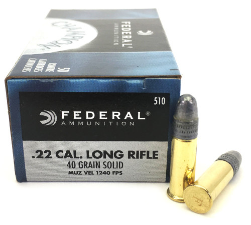 22 LR Federal Champion 40 Grain Solid Point Lead Round Nose - 500 Rounds FD510