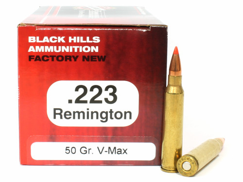 Surplusammo.com | Surplus Ammo .223 50 Grain V-Max Black Hills - 50 Rounds, NEW BHD223N7