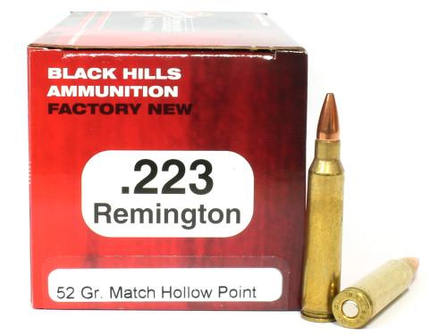 Surplusammo.com | Surplus Ammo .223 52 Grain Match HP Black Hills - 50 Rounds, NEW BHD223N3