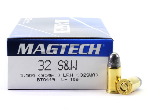 Surplusammo.com | Surplus Ammo Magtech Ammunition 32 S&W 85 Grain Lead Round Nose