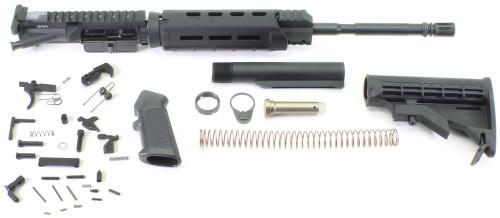 "Surplusammo.com SAA KIT 5.56 16"" M4 1:7 Nitride Carbine MLOK A2-Flash Hider, DPMS LPK, Collapsing M4 Stock - Rifle Kit Less Lower Receiver UPMLOKKITSALE"