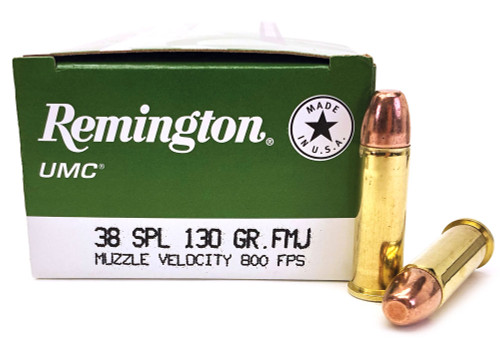 38 Special 130 Grain MC (FMJ) Remington UMC - 50 Rounds L38S11 / 23730