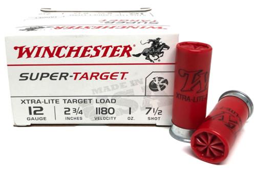 """12 Gauge Winchester Xtra-Lite Target Load 2 3/4"""" 1oz #7.5 Shot TRGTL127-7.5"""