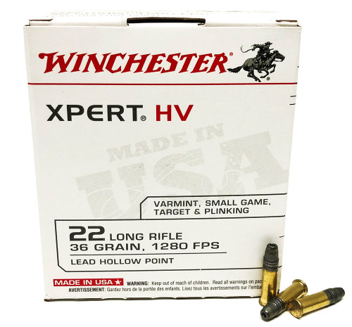 22 LR Winchester 36 Grain XPERT Lead Hollow Point WNXPERT22