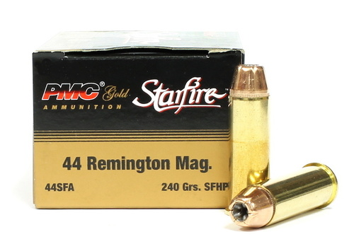 44 magnum 240 grain sfhp pmc gold starfire 20 rounds