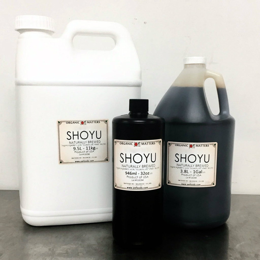 ORGANIC SHOYU, soy sauce, naturally brewed
