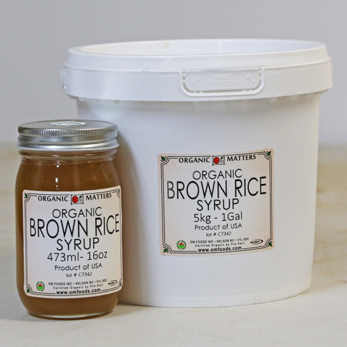 ORGANIC BROWN RICE SYRUP, unfiltered