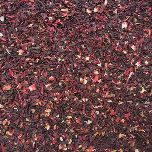 Organic Cut and Sifted Hibiscus Flower Petals - close up view