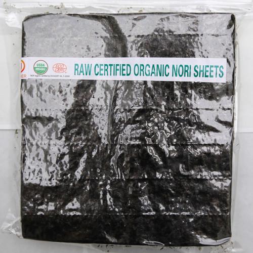 ORGANIC SUSHI NORI, sheets, raw