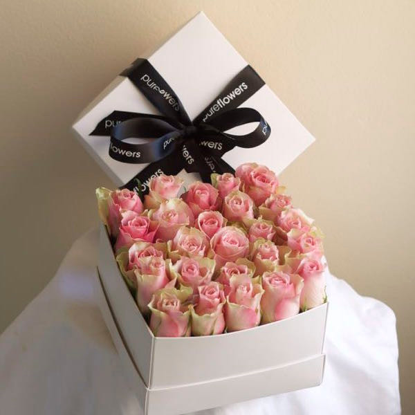 Rose flower box order online delivery pure flowers rose flower box sydney flower delivery negle Images