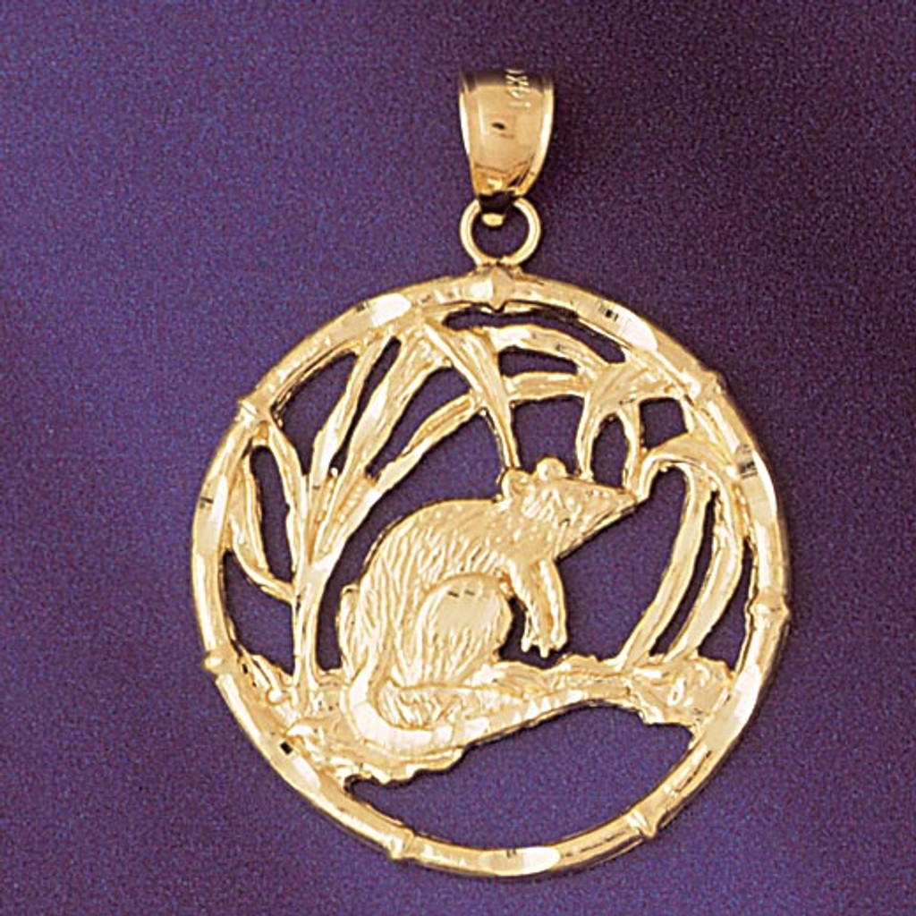 Rat chinese zodiac charm bracelet or pendant necklace in 14k gold or rat chinese zodiac pendant necklace charm bracelet in gold or silver 9303 aloadofball Gallery