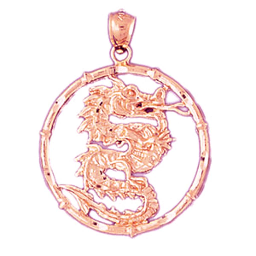 Dragon chinese zodiac charm bracelet or pendant necklace in 14k gold dragon chinese zodiac pendant necklace charm bracelet in gold or silver 9307 aloadofball Gallery