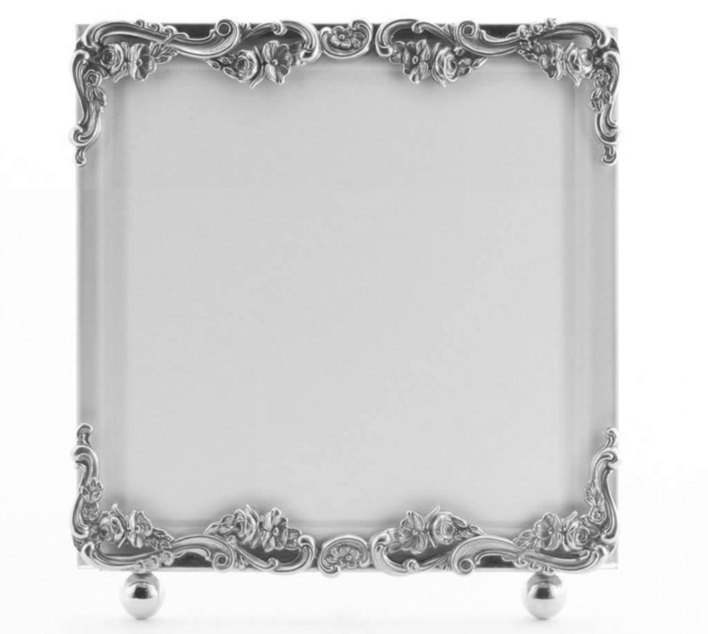 La Paris Country French 10 x 10 Inch Silver Plated Picture Frame ...